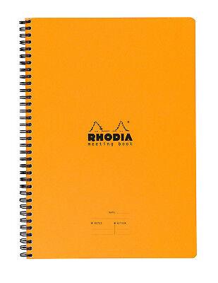 Rhodia Wiredbound - Notebook - Orange - Lined - Meeting Book - 6.5 X 8.25in New