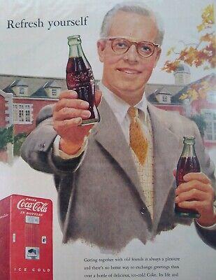 1950s Mens Suits & Sport Coats   50s Suits & Blazers Coca Cola Print Ad Original Vintage 1950s Large Dapper Man Business Suit Machin $19.99 AT vintagedancer.com