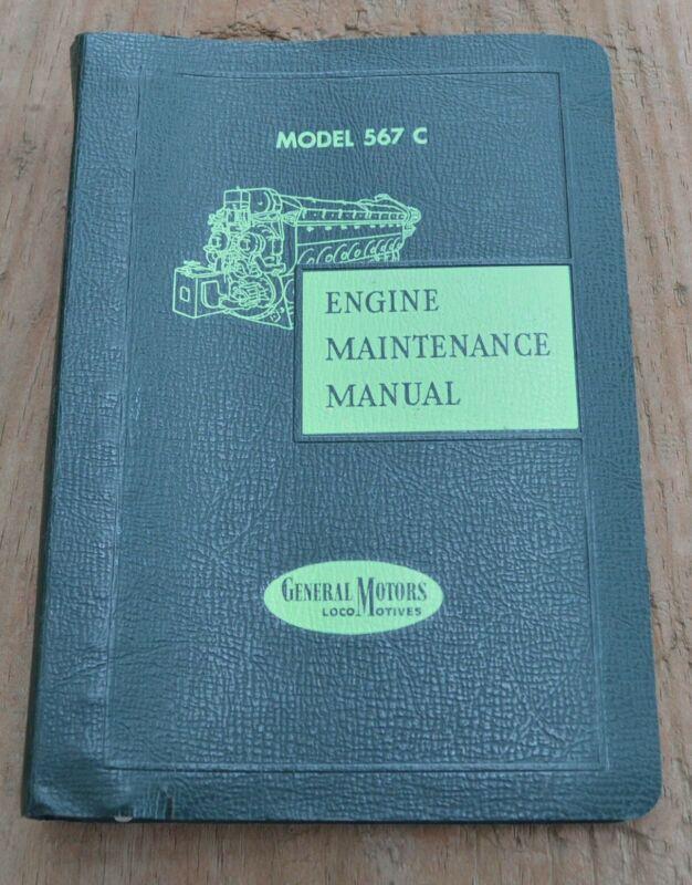 1959 General Motors Locomotive Maintenance Model 252 C Manual for 567C engines