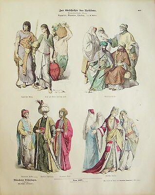 Münchner Bilderbogen - Zur Geschichte der Kostüme #627 - Ägypter, Mauren, Türken