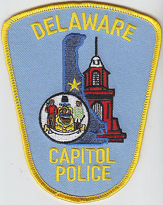 Delaware DE State Capitol Police patch LIGHT BLUE VERSION!