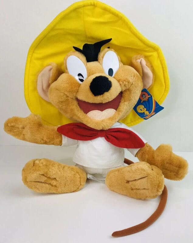 "Looney Tunes Speedy Gonzales Mouse Rat Plush Stuffed Animal 15"" Felt Hair! A5"