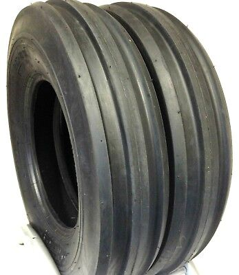 Two 750-16 Ford-new Holland Tractor 3rib Tire F2 7.50-16 Tri Rib 7.50 16