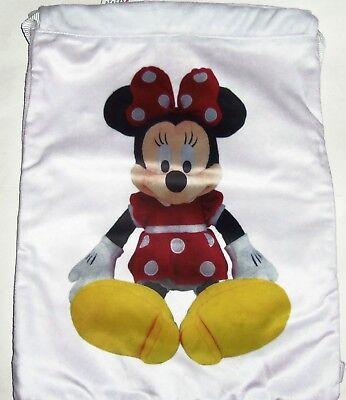 Disney Minnie Mouse Cinch Sack Tragetasche Rucksack Thema Parks Neu