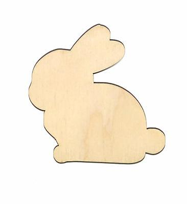 Flo Bunny Rabbit Unfinished Wood Shape Cut Out FB11025 Crafts Lindahl Woodcrafts - Bunny Cut Out