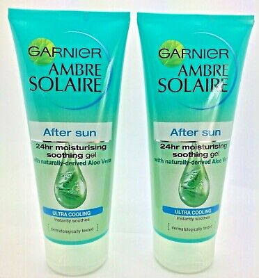 Garnier Ambre Solaire After Sun Soothing Gel with Aloe Vera 200ml  x2
