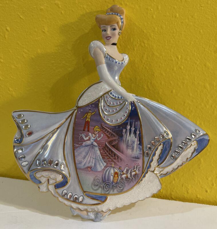 Bradford Exchange Disney Cinderella Plate Midnight