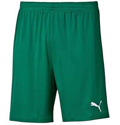 New Mens PUMA Logo Shorts - Football Fitness Gym Sports - Green