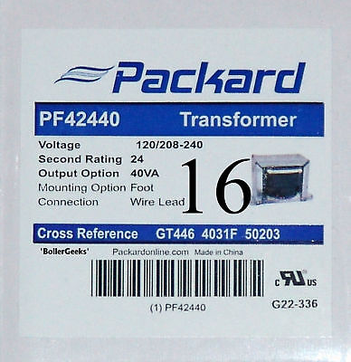 Lot Of 16 Pcs - 24 Volt Hvac Packard Transformers Pf42440 - 120208240v - 4031f