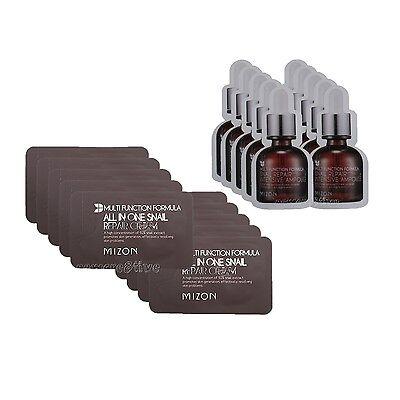 MIZON Snail Repair Cream Sample 10pcs+Snail Repair Intensive Ampoule Sample10pcs