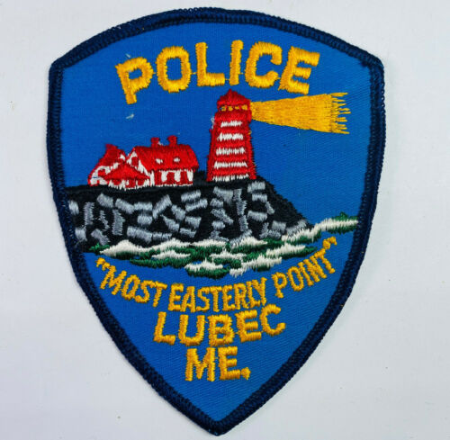 Lubec Police Washington County Maine ME Most Easterly Point Lighthouse Patch (A)