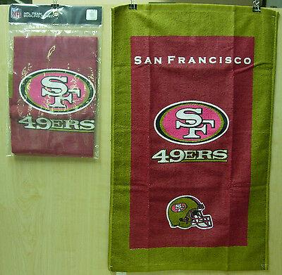 """= Kr Nfl Team Bowling Towel, San Francisco 49ers 100% Cotton 16"""" X 26"""" Poly Bag"""