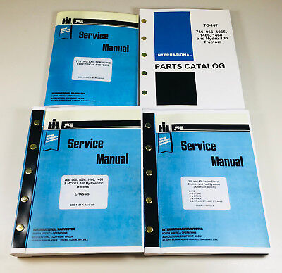 International 766 966 1066 1466 Tractor Service Parts Manual Repair Shop Set Ih