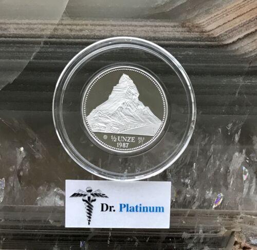 1987 Helvetia, Switzerland, PROOF, 1/2 oz 9995 Platinum Coin - DPPC4