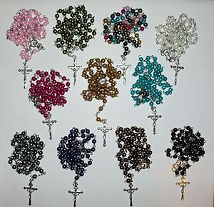 Wholesale-Job-Lots-6-x-Lovely-Rosary-Beads-Necklaces-Or-Bracelets-SP-Crucifix