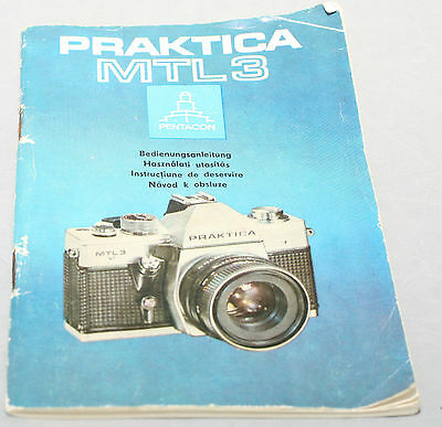Instructions and guides PRAKTICA MTL3 INSTRUCTION