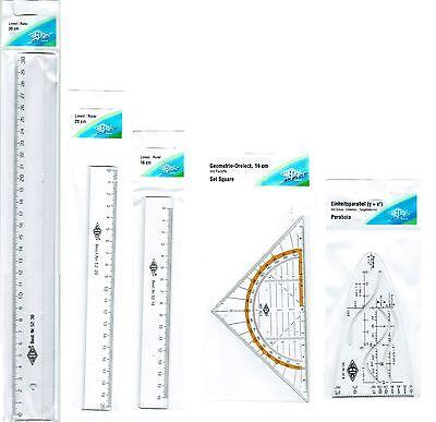 WeDo - Lineal 16cm, 20cm, 30cm, Geodreieck, Parabel - neu/OVP