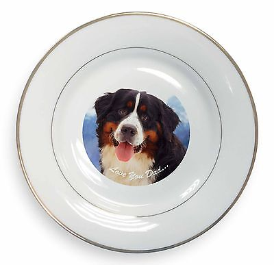 Bernese 'Love You Dad' Gold Rim Plate in Gift Box Christmas Present, DAD-8PL