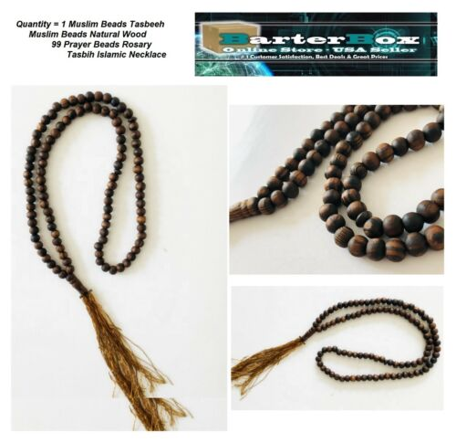Islamic Muslim Prayer Tasbih 99 Natural Wood (Zaitun) Handmade Rosary Haji Beads