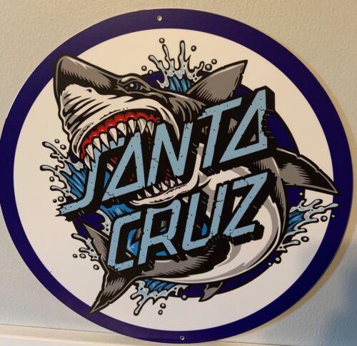 """Santa Cruz Skateboard Shark 14"""" Aluminum Sign"""