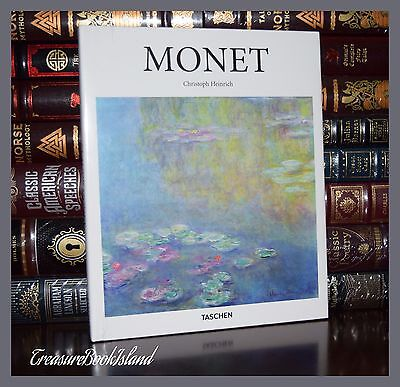 Claude Monet by Heinrich Art Paintings New Sealed Large Deluxe Hardcover Gift