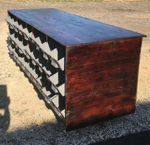 Country / General Store Counter, Apothecary / Wine Counter / Cabinet / 27 Bins