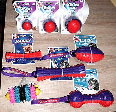 Hundespielzeug GiGwi verschiedene Ausführungen Rugby Ball Hantel Knochen S M L  ()