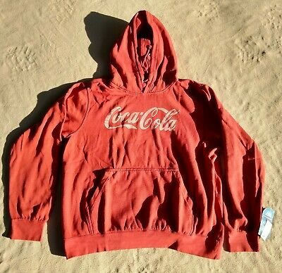 Coca Cola MV Sport Vintage Fleece Red Wood Coca-Cola Hoodie Size XXL