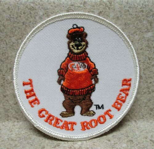 """NEW/VINTAGE A&W ROOTBEER """"THE GREAT ROOT BEAR"""" SEW ON PATCH 3"""" ROUND"""