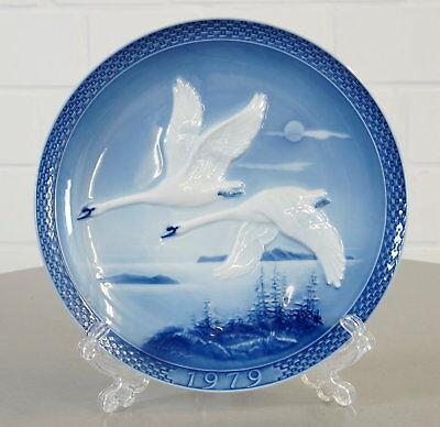 Den Blauen Teller (Hutschenreuther Porzellan Wandteller Jahresteller 1979 Flug in den Süden Vintage)