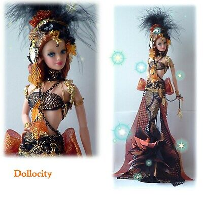 ooak Barbie doll    Enchantress siren of the black sea