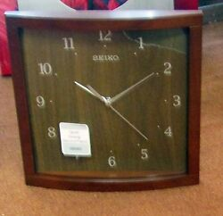 SEIKO NEW SQUARE 10.5 WOODEN WALL CLOCK  QXA675ZLH