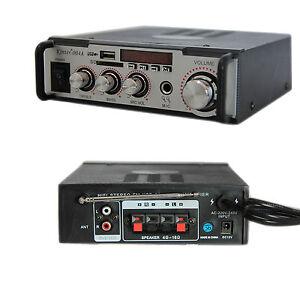 Amplificatore audio 12v 220v usb sd microfono mp3 fm casa for Stereo casa