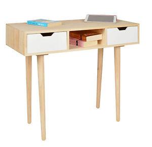 design holz schreibtisch computer arbeitstisch sekret r. Black Bedroom Furniture Sets. Home Design Ideas