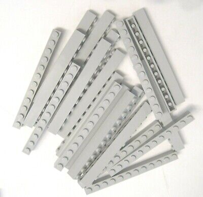 LEGO LOT OF 25 NEW 1 X 12 DOT LIGHT BLUISH GREY BRICKS *FREE SHIPPING*