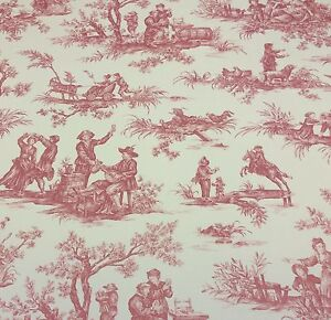 premier prints mayfair toile red furniture cushion fabric by the yard 56 wide. Black Bedroom Furniture Sets. Home Design Ideas