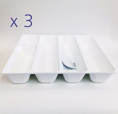 x 3 IKEA VARIERA Cutlery tray, white 520g Strong Convenient Latvia product