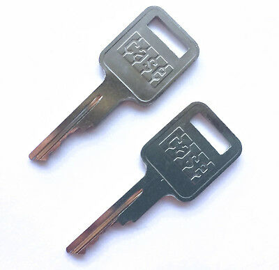 2 Case Heavy Equipment Keys For Backhoe Skid Steer Loader Oem Logo A77313