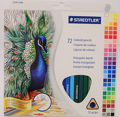 Staedtler 72 Triangular Colored Pencils Set 1270C72A6 2.9mm Core
