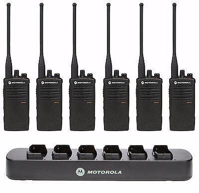 6 Motorola Rdu4100 Uhf Two-way Radios Bank Charger. Buy 6 Get One Free