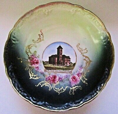 c1900 Polk County Court House Dallas, OR Shallow Souvenir Bowl 8