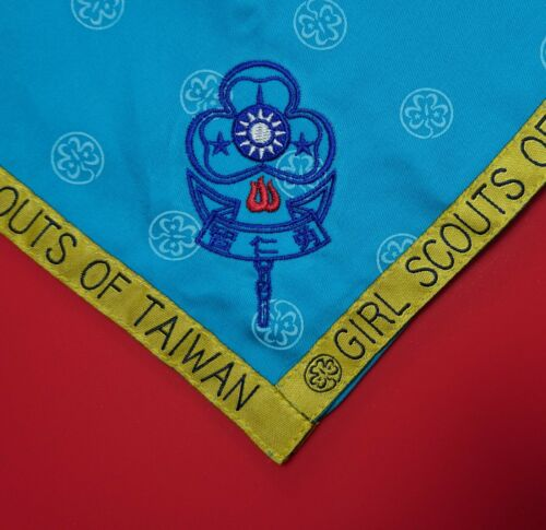 Taiwan Girl Guides Scouts Official Leader Neckerchief Scarf (Light Blue)