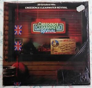 RARE-CCR-UK-IMPORT-20-Greatest-Hits-Creedence-Clearwater-Revival-FT-558-VINYL