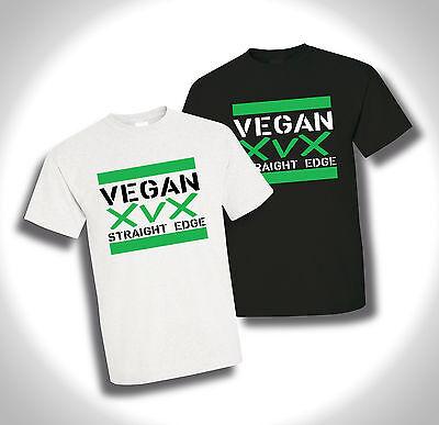 T-Shirt Motiv vegan Straight Edge in schwarz oder weiß