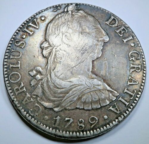 1789 Mexico Silver 8 Reales Spanish Colonial 1700