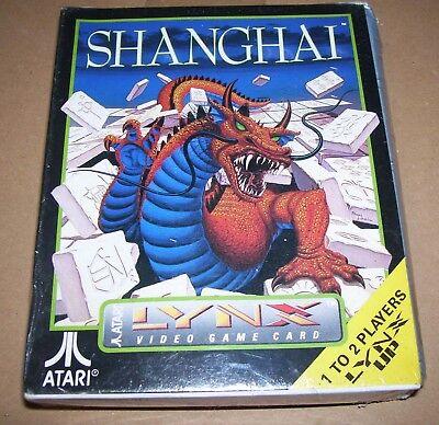 Atari Lince Videojuego Consola Portátil Cartucho Shanghai Nuevo en Caja Sellado