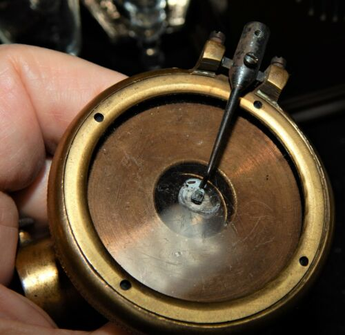 Antique Brass Phonograph Reproducer / Maker Unknown / Untested / As Is