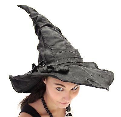 Verformbarer Deluxe Hexenhut mit Flicken Hexen Hut Kostüm Zubehör Halloween
