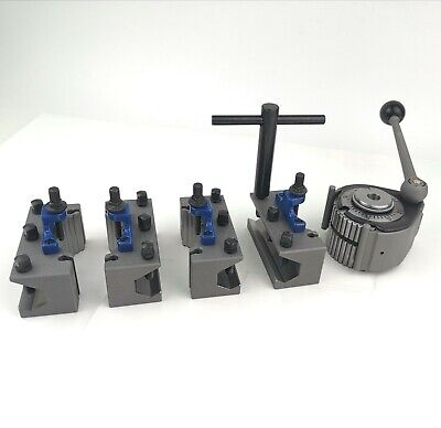 A Multifix 40 Position Tool Post And 4 Pcs Ah2085 Boring Tool Holders