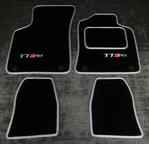 Black Silver Super Velour Car Mats To Fit Audi Tt Mk1 99